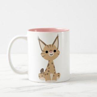 Cute Cartoon Lynx Mug mug
