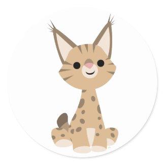 Cute Cartoon Lynx Sticker sticker