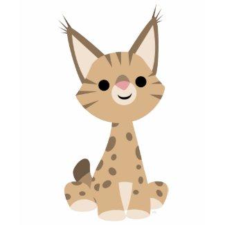 Cute Cartoon Lynx Women T-Shirt shirt