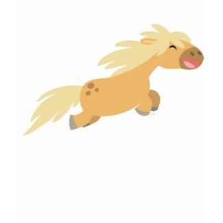 Cute Cartoon Palomino Pony Children T-shirt shirt