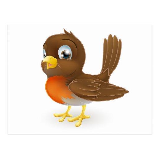 Robin Bird Cartoon Cake Ideas and Designs