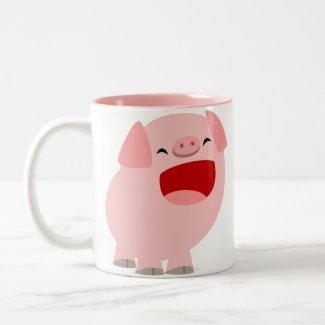 Cute Cartoon Singing Pig Mug mug