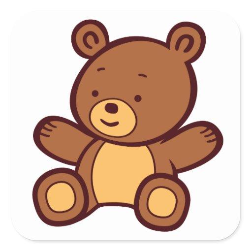 Cute Cartoon Teddy Bear Sticker | Zazzle