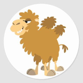 Cute Cartoon Two-Humped Camel Mousepad sticker