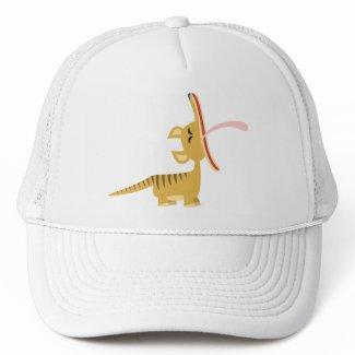 Cute Cartoon Yawning Thylacine Hat hat
