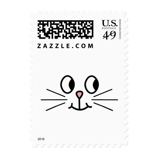 How To Cute Cat Face Postage Stamp Cute Stamps