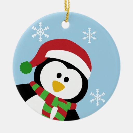 Cute Christmas Penguin Ornament   Zazzle