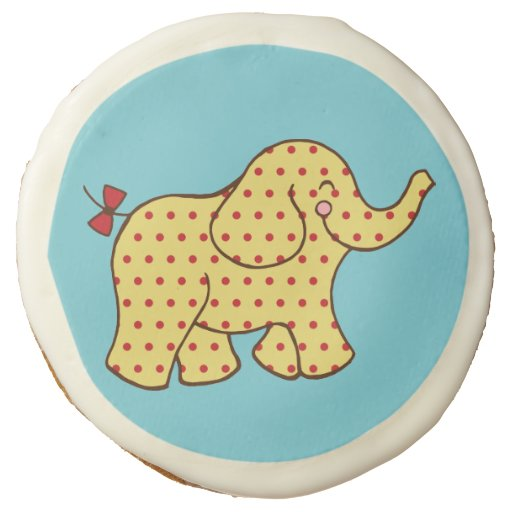 Cute Circus Elephant Cookies Sugar Cookie | Zazzle