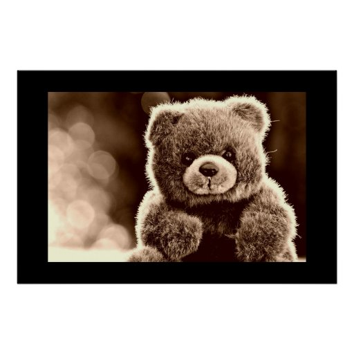 Cute, Cuddly Teddy Bear Poster