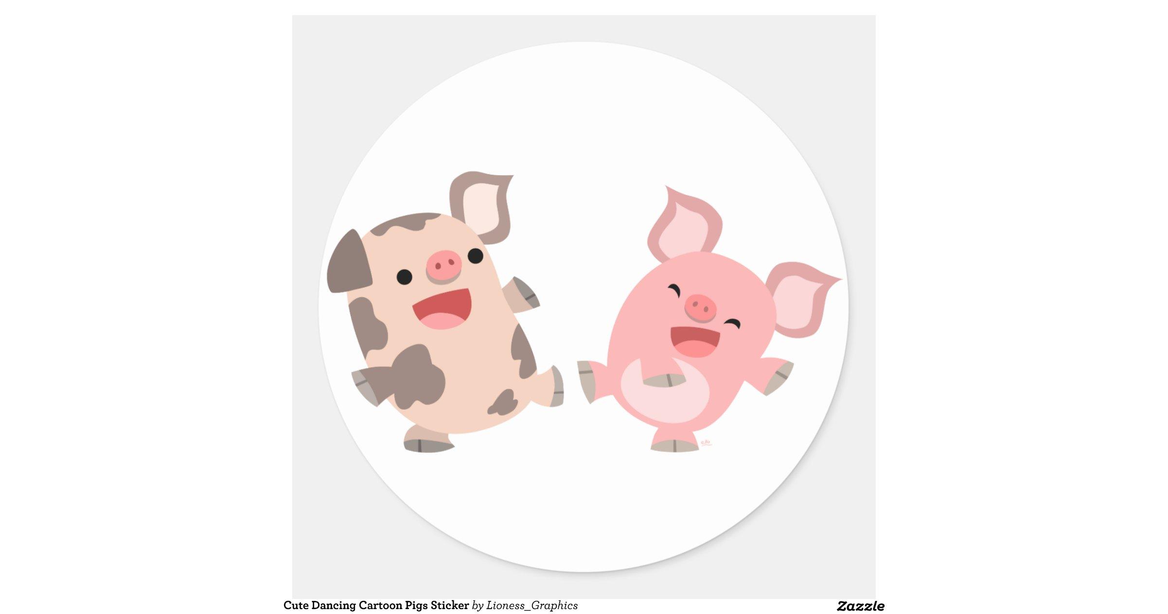 Cute_dancing_cartoon_pigs_sticker