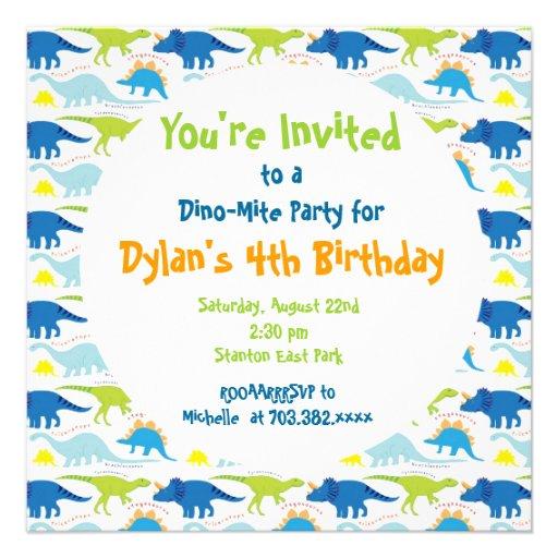 40th Birthday Ideas: Birthday Invitation Templates Dinosaurs