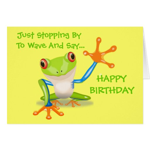 Cute Frog Quotes: Cute Frog Funny Animal Kids Happy Birthday Card
