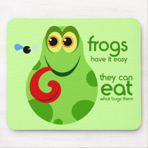 Cute Frog Quotes: Cute Green Frog Quote Mousepad