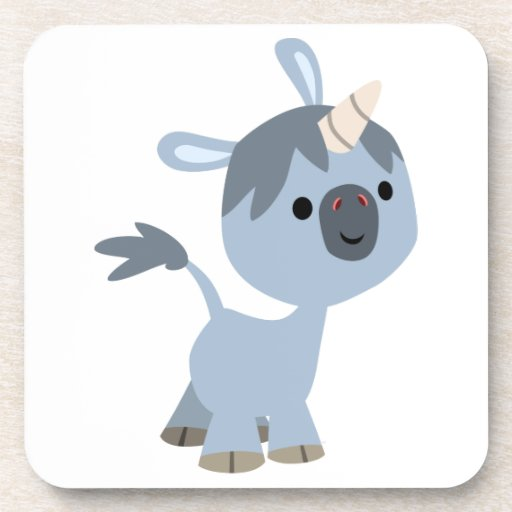 Cute Happy Cartoon Baby Unicorn Coasters Set | Zazzle
