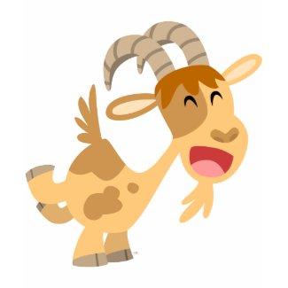 Cute Happy Cartoon Goat Women T-Shirt shirt