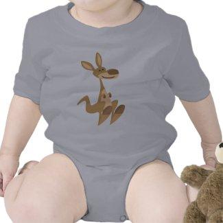 Cute Happy Cartoon Kangaroo Baby shirt