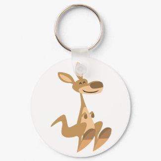 Cute Happy Cartoon Kangaroo Keychain keychain
