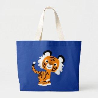 Cute Inquisitive Cartoon Tiger Bag bag