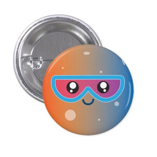 Cute Kawaii Planet Mercury Character 1 Inch Round Button ...