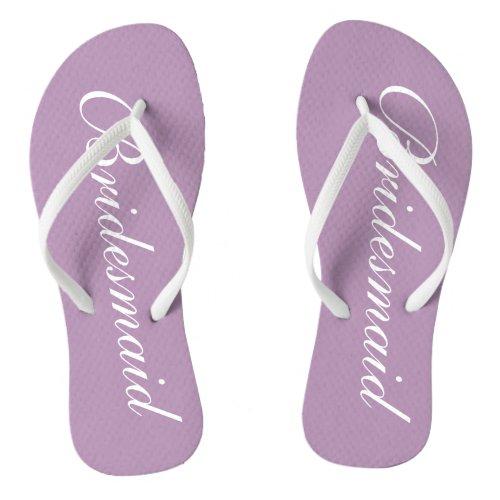 38d818cba Cute lavender purple bridesmaid wedding flip flops