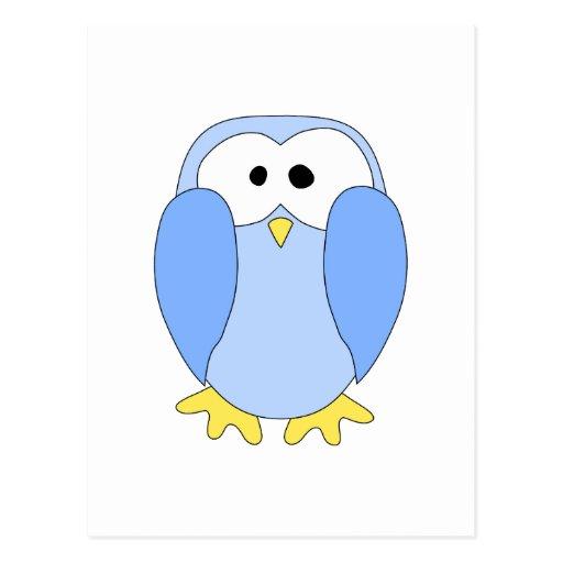 Cute Light Blue Penguin. Penguin Cartoon. Postcard | Zazzle