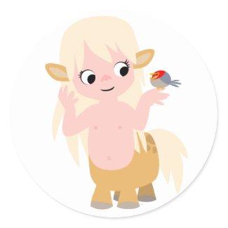 Cute Little Cartoon Centauress Baby T-Shirt sticker