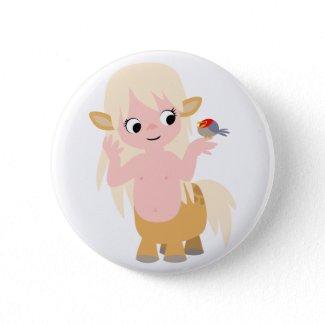 Cute Little Cartoon Centauress Button Badge button