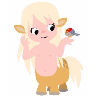 Cute Little Cartoon Centauress Children T-Shirt shirt