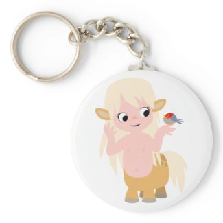 Cute Little Cartoon Centauress Keychain keychain