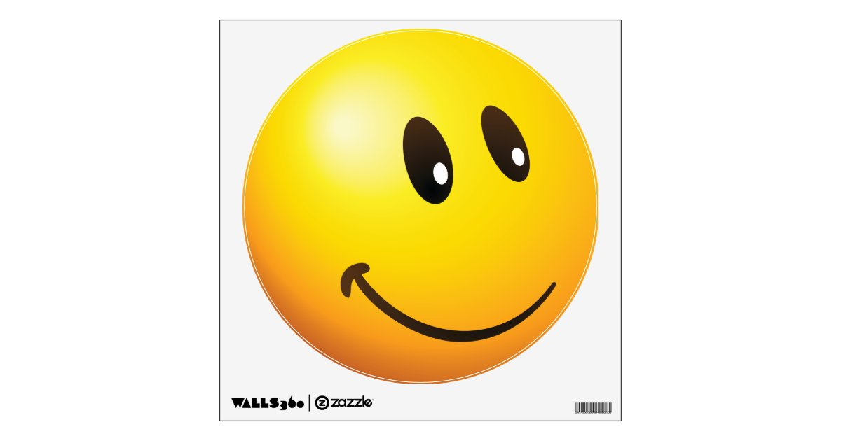 Cute Looking At You Emoji Wall Sticker