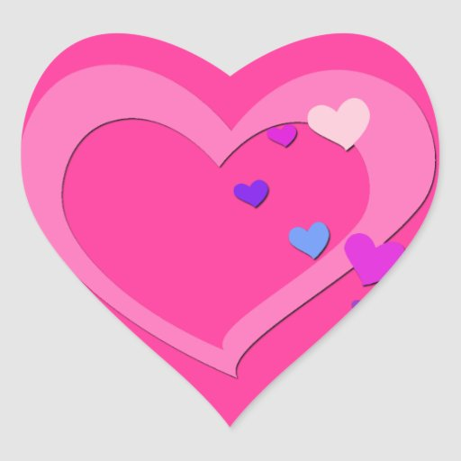 Cute Love Heart Sticker | Zazzle