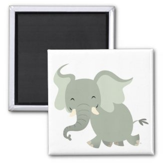 Cute Merry Cartoon Elephant Magnet magnet