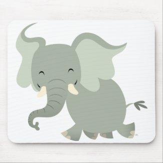 Cute Merry Cartoon Elephant Mousepad mousepad
