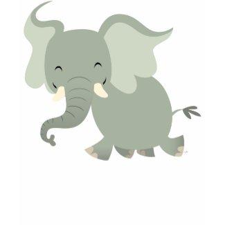 Cute Merry Cartoon Elephant Women T-Shirt shirt