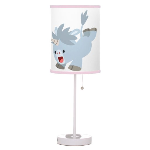 How To Make Lamp Shades Cute Mischievous Cartoon Baby Unicorn Table Lamp | Zazzle