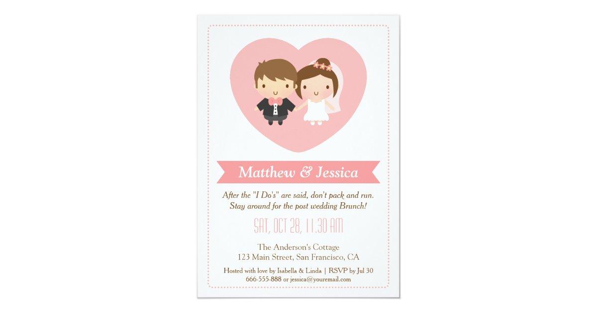 Post Wedding Brunch Invitation Wording: Cute Newlyweds Post Wedding Brunch Invitations