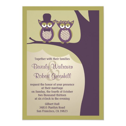 Cute Owl Wedding Invitations