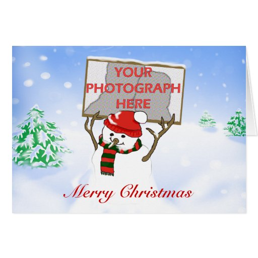 Cute Personalized Photo Christmas Card