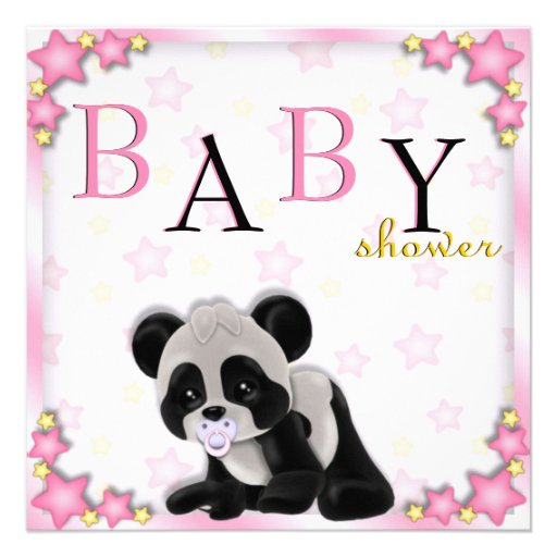 Personalized Panda Baby Shower Invitations