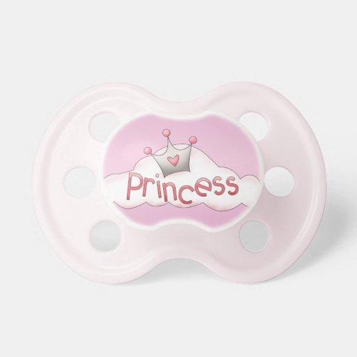 Cute Princess Crown Pink Pacifier