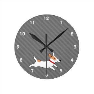 Cartoon Dog Wall Clocks Zazzle