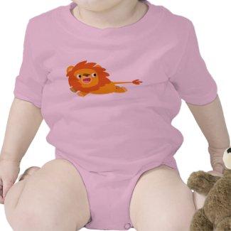 Cute Rushing Cartoon Lion Baby Clothing shirt