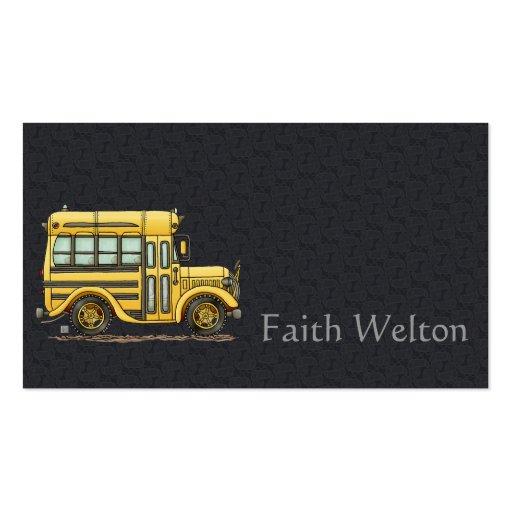 Cute School Bus Business Card Templates