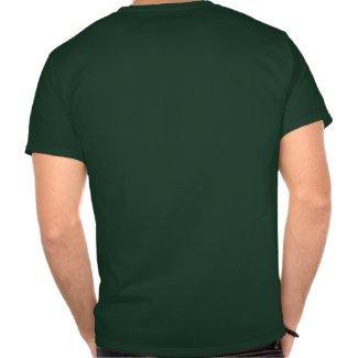 Cute Watchful Cartoon Lion T-shirt (back) shirt