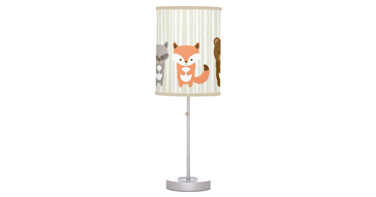Cute Woodland Animals Nursery Lamp Zazzle