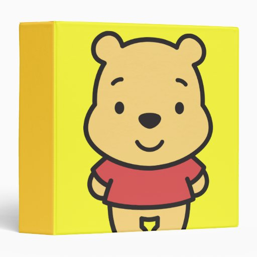 Cuties Winnie The Pooh Vinyl Binders