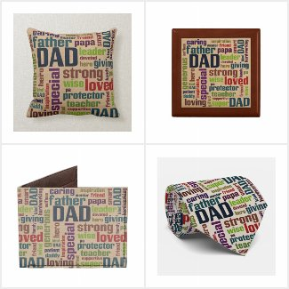 Dad Word Cloud Gifts for Father's Day