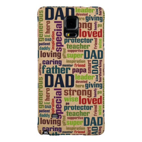 Dad Word Cloud Text Father's Day Typography Galaxy Note 4 Case
