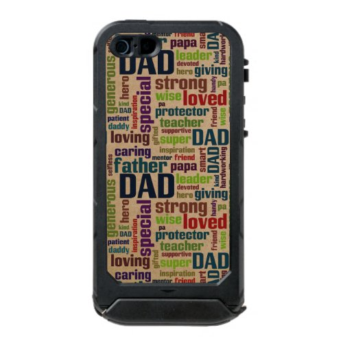 Dad Word Cloud Text Father's Day Typography Incipio ATLAS ID™ iPhone 5 Case