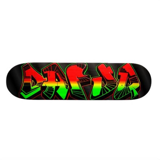 Dafuq Rasta Graffiti Skateboard. | Zazzle